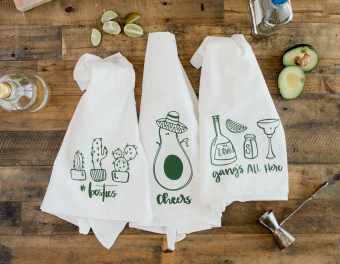 Cinco De Mayo Gift Cactus Gift Towel Graphic Flour Sack Towel Avocado Towel