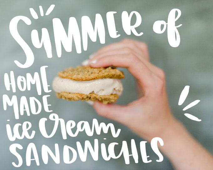 Introducing the summer of HOMEMADE ice cream sandwiches + Strawberry Graham ice cream sammie