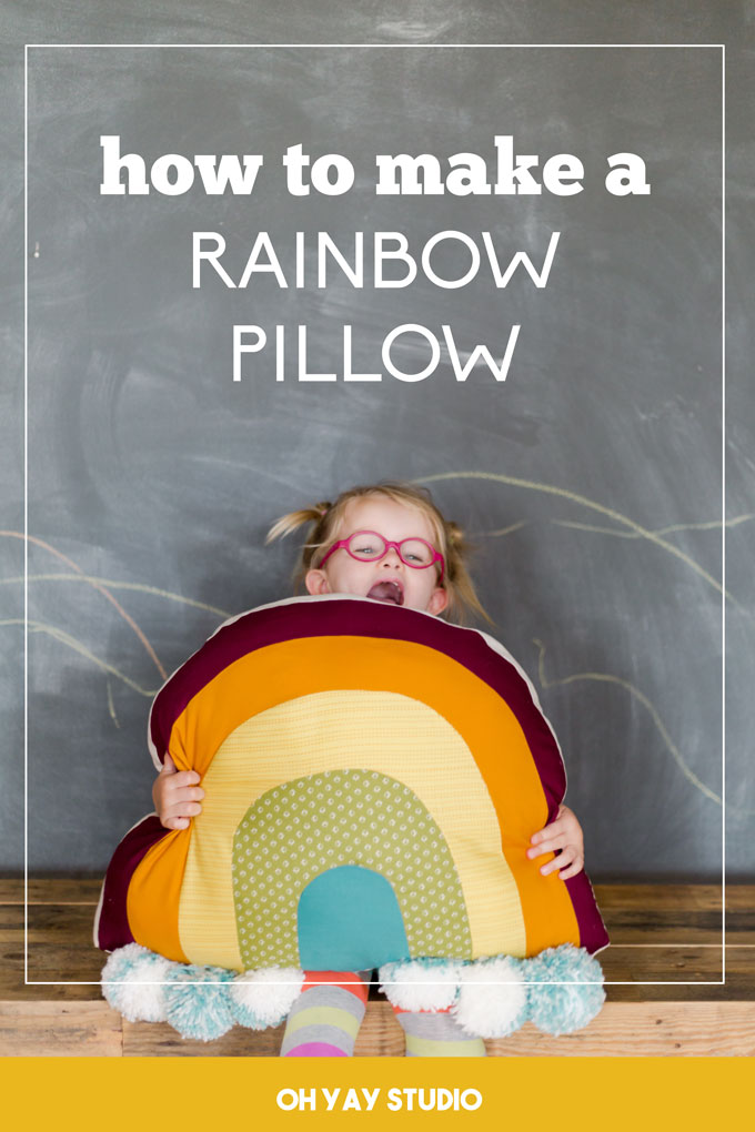 how to sew a rainbow pillow, rainbow pillow tutorial, easy sewing patterns for kids, easy sewing patterns, rainbow sewing pattern, simple sewing patterns, rainbow pillow, rainbow floor pillow, rainbow pillow DIY