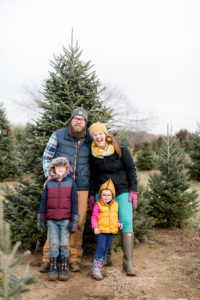 Christmas tree hunting, Emily Steffen family, oh yay traditions, oh yay studio, christmas traditions, Christmas tree day, toddler christmas ideas, family christmas traditions