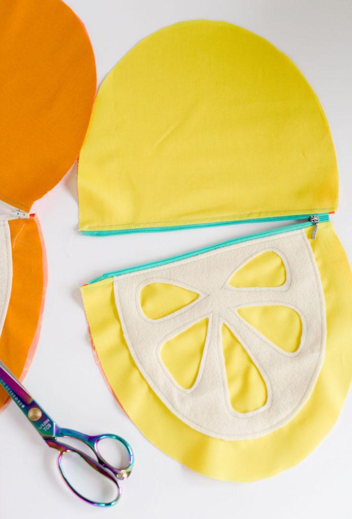 Fruit slice wet bag pattern, watermelon pouch pattern, janome memory maker sewing machine, fruit pouch swimsuit bag, swimsuit wet bag pattern, free wet bag sewing pattern