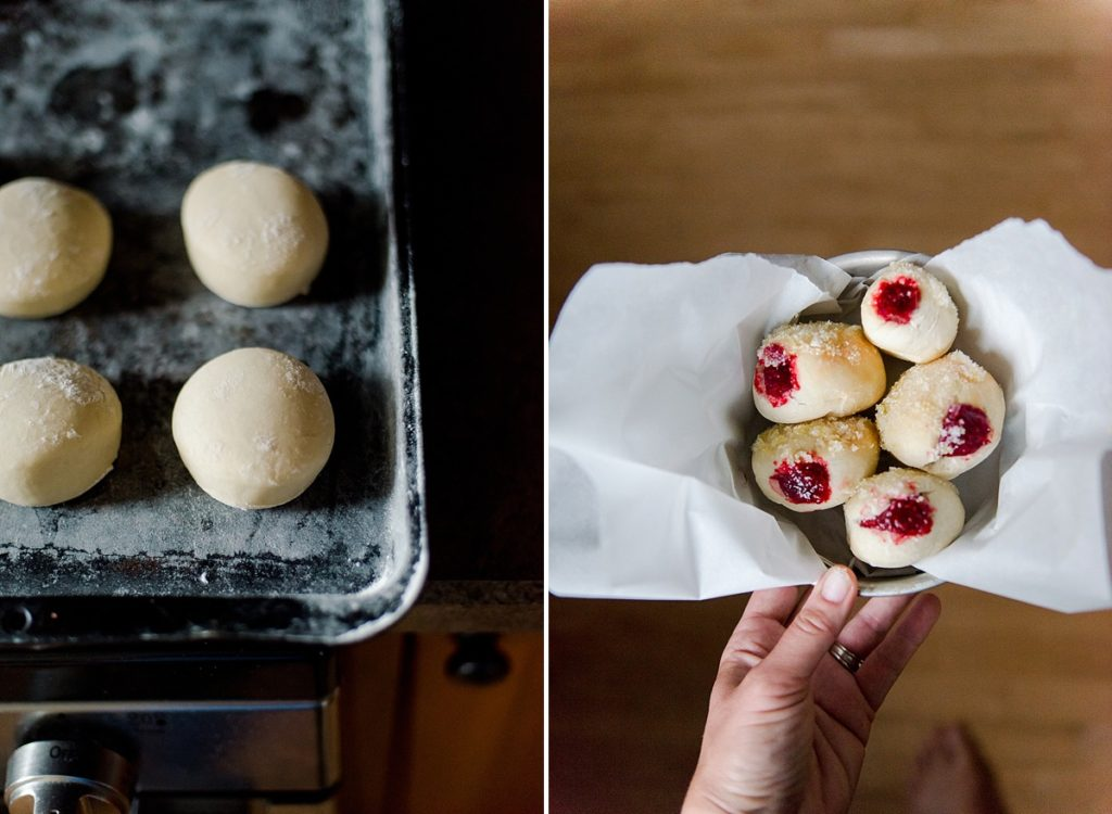 air fryer yeast donuts, raspberry filled donuts, how to make homemade air fryer yeast donuts, yeast donut recipe