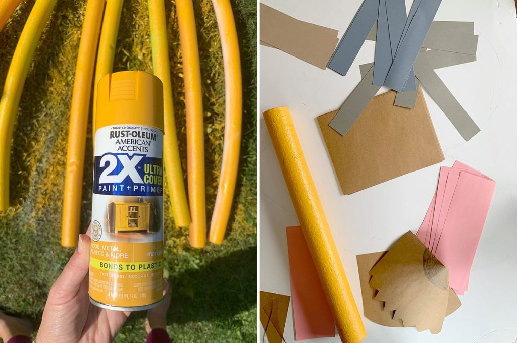 how to make large pencils out of pool noodles, large teacher pencils from pool noodles, large pool noodle crafts