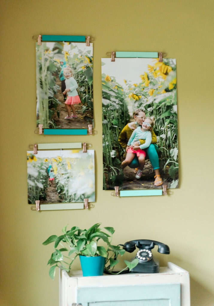 how to use a pants hanger for hanging prints, pants hanger hack for hanging wall prints, hanger hacks, ikea hanger hacks