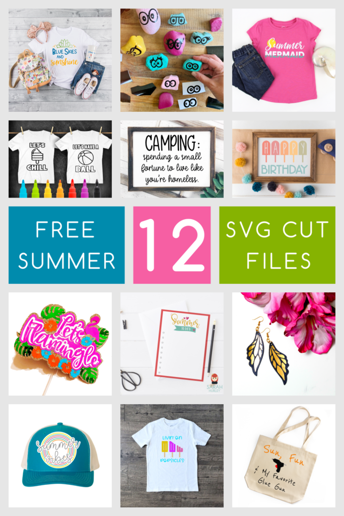 free summer SVG files, free SVG files, free cut files for cricut