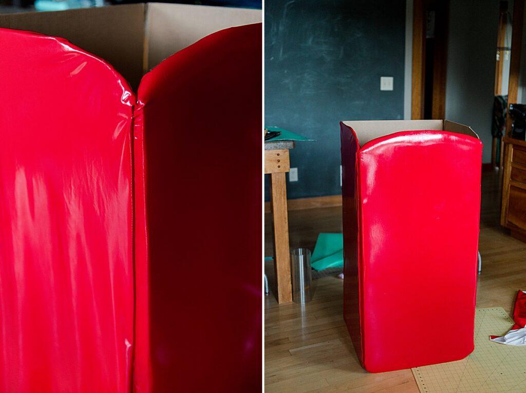 how to make a SMEG fridge costume, refrigerator costume, Cardboard costume idea, DIY halloween costume, Cardboard halloween costume idea