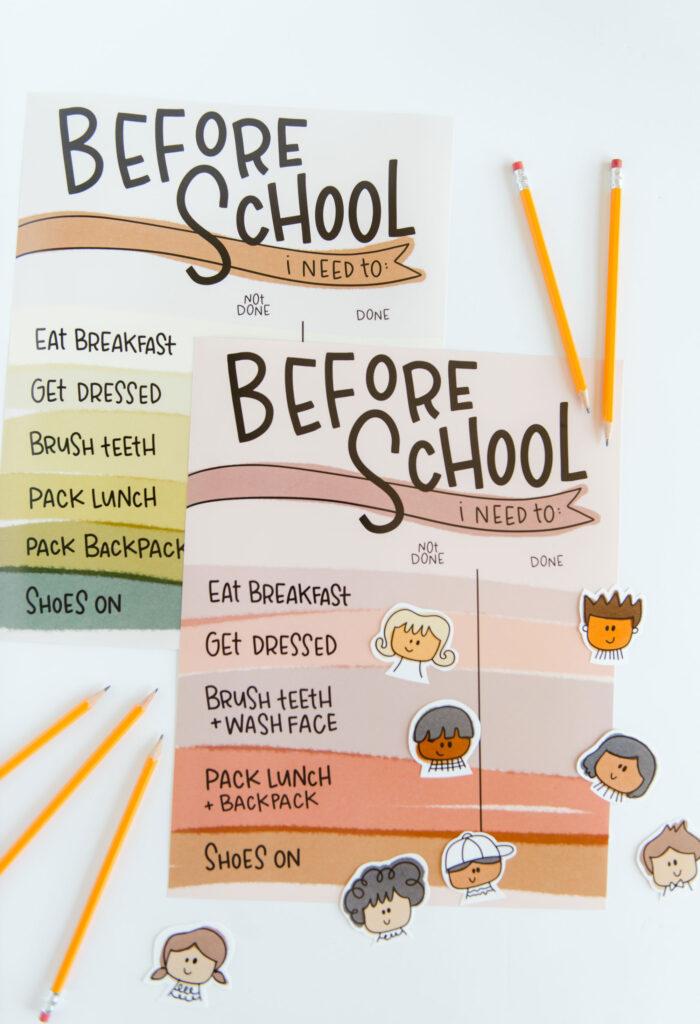school schedule with walmart photo