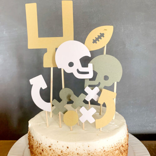 football cake topper SVG file, free SVG file, sport theme SVG file