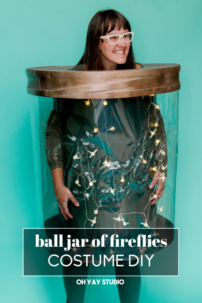 jar of fireflies DIY halloween costume, Ball jar costume, Ball jar DIY costume, Ball jar halloween costume, DIY halloween costume, DIY costume, handmade costume, oh yay studio costume