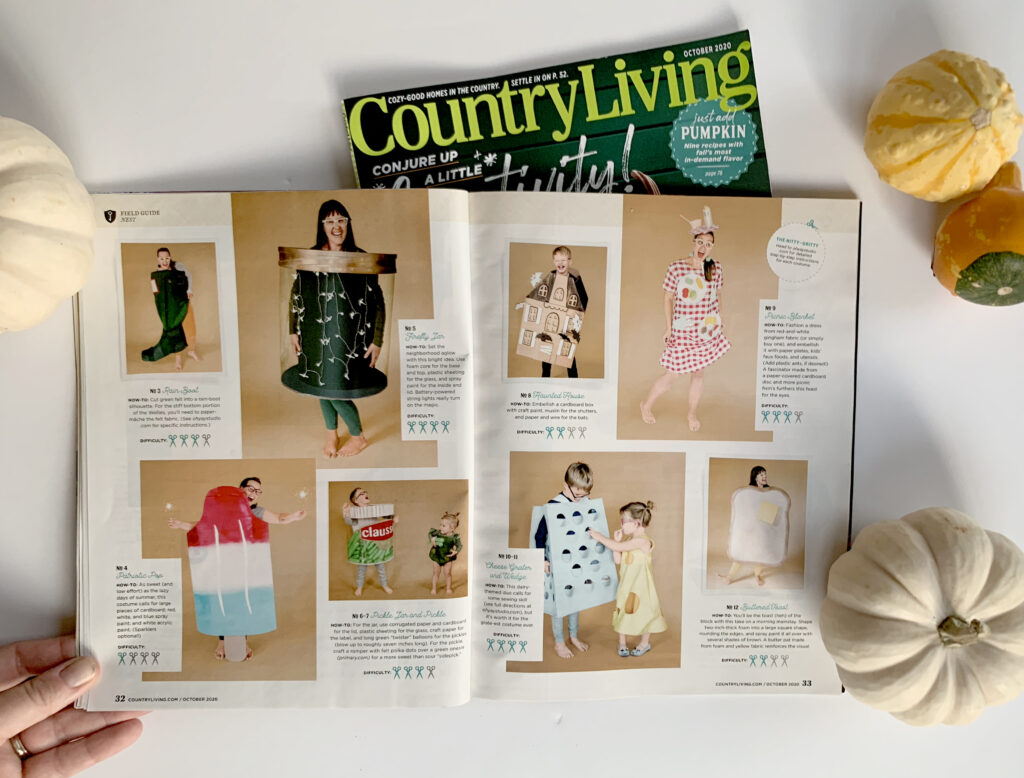 oh yay studio costumes, country living feature, how to make costumes, DIY costumes for kids, DIY halloween costumes