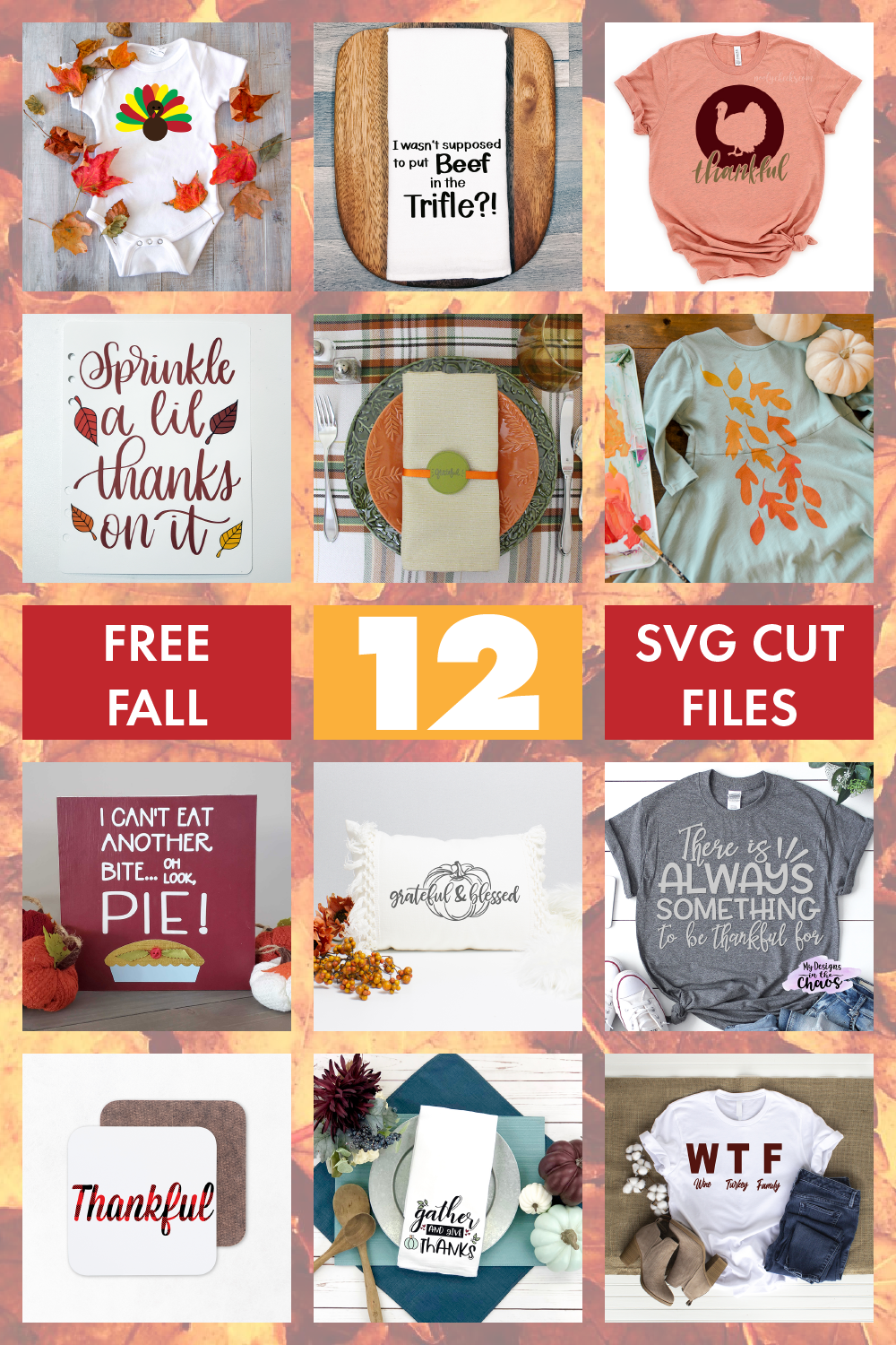Free SVG cut files, Free fall cut files, free leaf SVG files, SVG templates for free