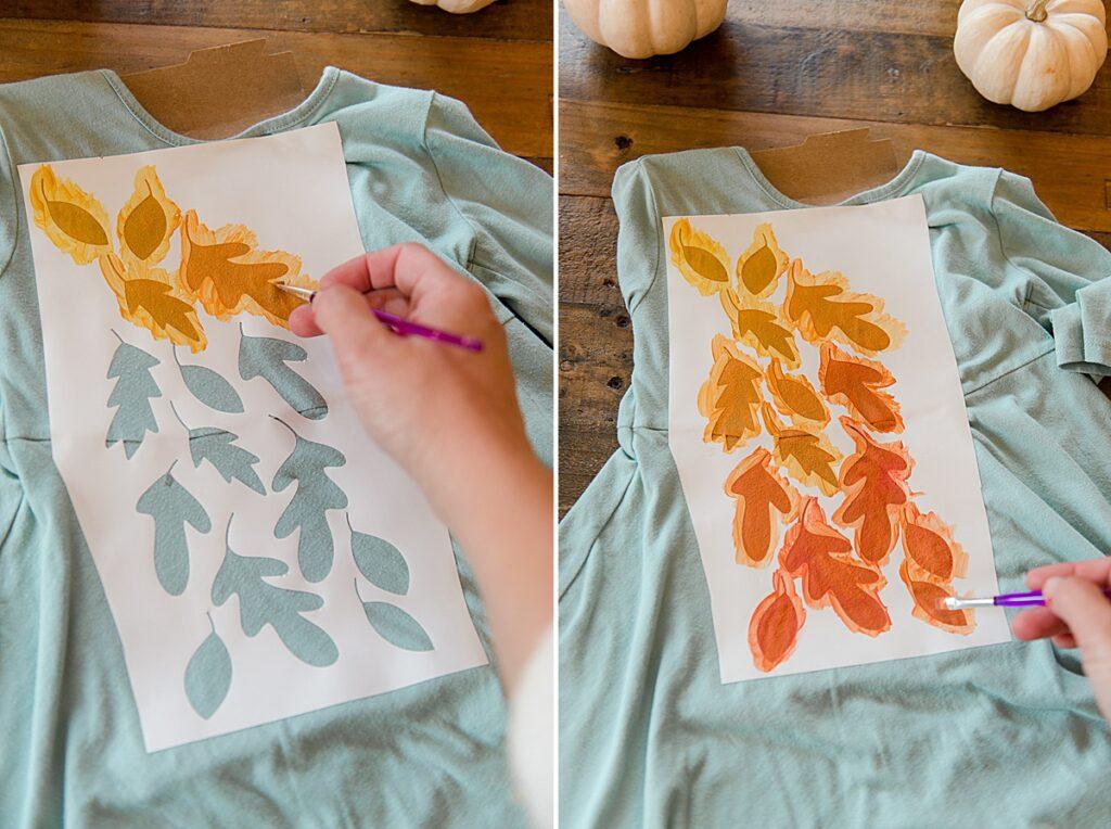 SVG cut file, free cut file, cricut cut file, fall leaf file for upcycling clothing