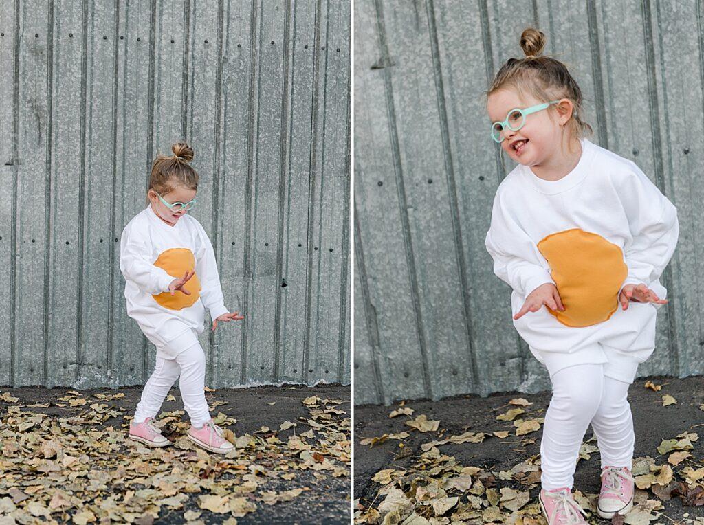 Brunch Halloween costume DiY, how to make brunch costumes, bacon costume, egg costume, toast costume, juice costume DIY