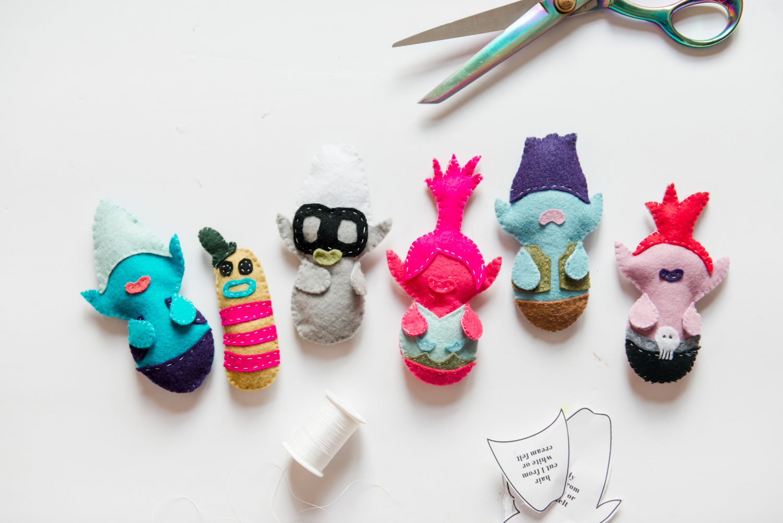how to make trolls plushies, troll doll plush, trolls world tour characters, handmade troll dolls, poppy plushie, branch plushie, how to make plushies