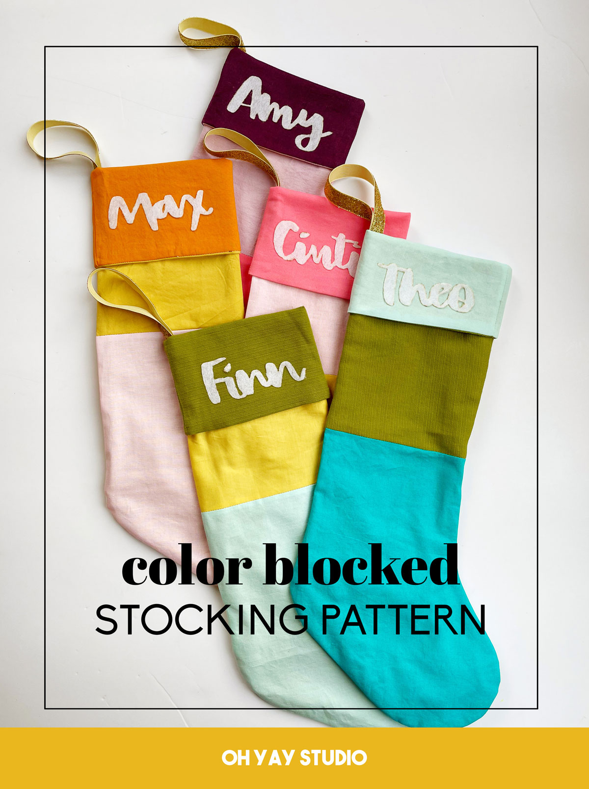 color blocked stocking pattern, how to make a color blocked stocking, janome sewing machine, stocking sewing pattern, colorful stocking, free sewing pattern