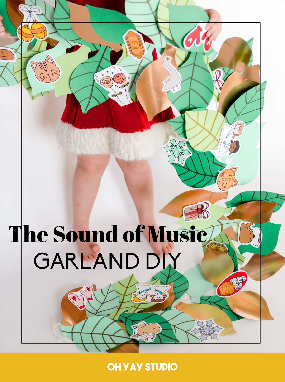 The sound of music DIY, DIY sound of music garland, sound of music doodles, sound of music printables