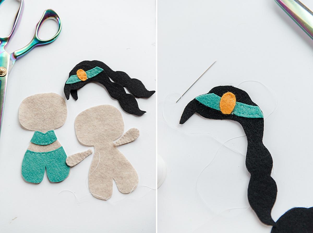 how to make disney princess plushies, disney princess plushies, disney stuffies, moana plushie, jasmine plushie, cinderella plush, snow white plush