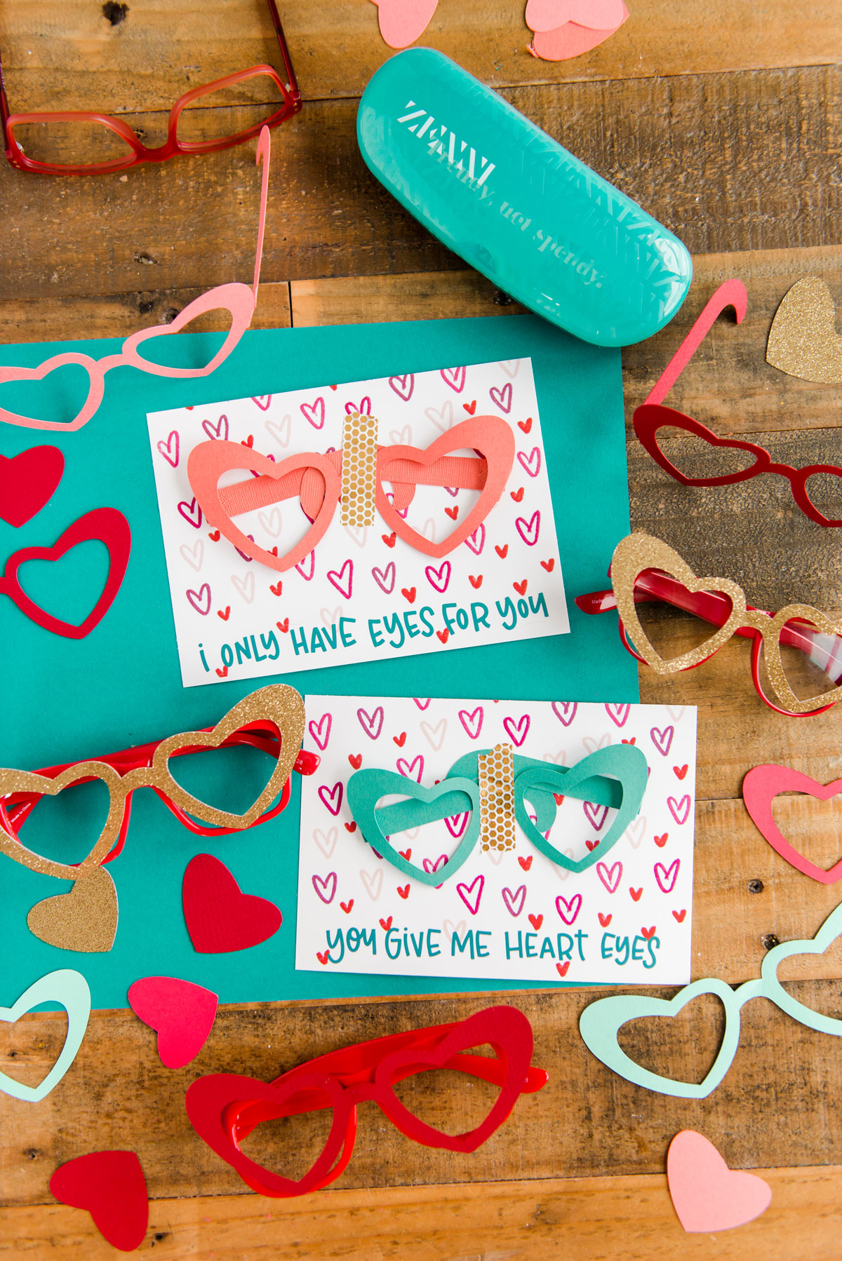Heart glasses Valentine Day DIY, Zenni Optical DIY